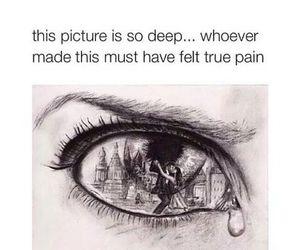 eye, sad, and pain image