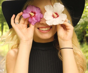 blonde, flowers, and nature image