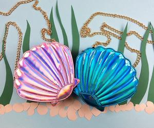 mermaid, bag, and blue image