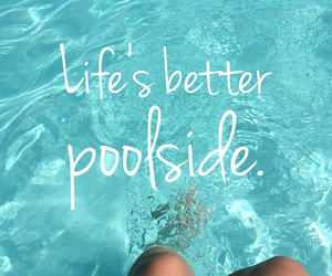 pool, summer, and quotes image
