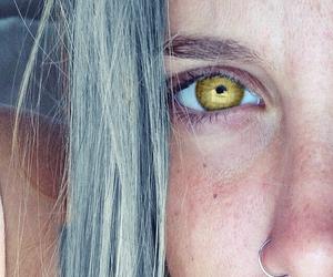 girl, blonde, and eye image