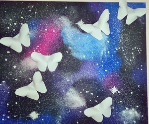 art, butterfly, and colour image