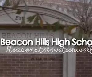 beacon hills, high school, and teen wolf image