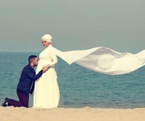 family, happy, and hijab image
