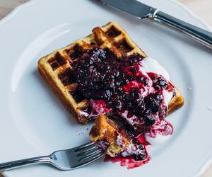 blackberries, breakfast, and cornmeal image
