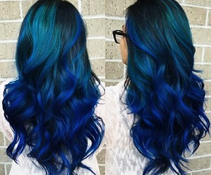 blue, gorgeous, and hair dye image