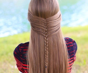 braid, hairstyle, and girl image