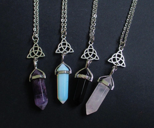 crystal, indie, and necklace image