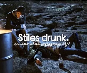 teen wolf, drunk, and stiles image