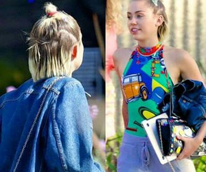 cyrus, jeans, and miley image