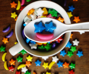stars, smile, and candy image