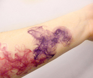 tattoo, color, and watercolor image