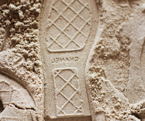 chanel, beach, and sand image