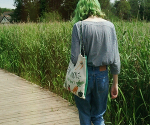 girl, green, and indie image