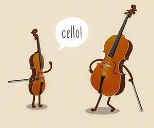 cello, classical music, and funny image