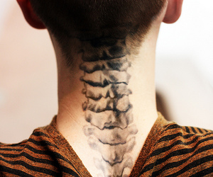 tattoo, boy, and spine image