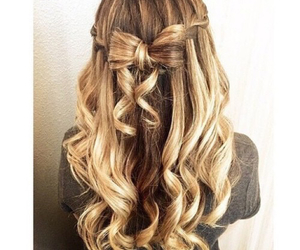 hair, beautiful, and bow image