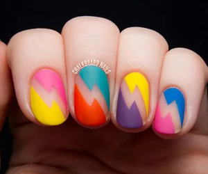 nails, nail art, and colors image