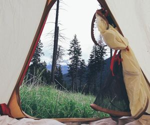 nature, camping, and tent image