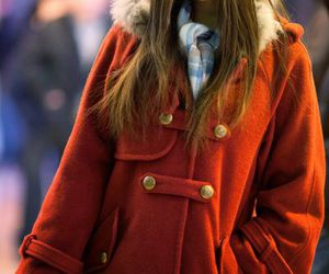 coat, red, and sweet image