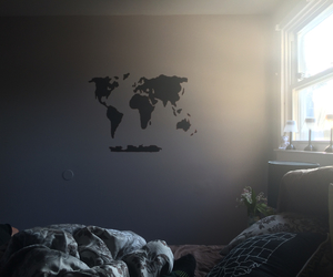 chalkboard, diy, and map image
