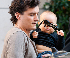 baby, orlando bloom, and cute image