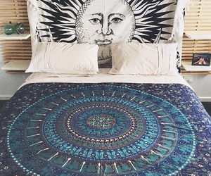 boho, bed, and bedroom image