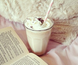 book, drink, and food image