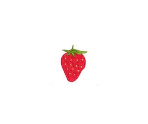 stamp, strawberry, and 素材 image