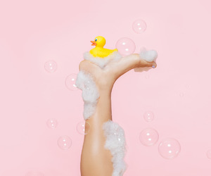 pink, duck, and bubbles image