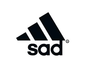 header, sad, and adidas image