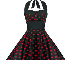 1950s, polka dot, and retro style image