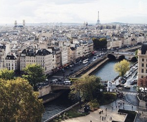 city, paris, and photography image