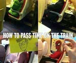 funny, lol, and train image