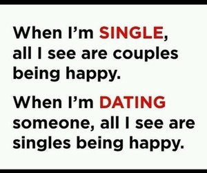 dating, single, and being happy image