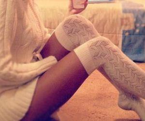 girl, girly, and knee high socks image