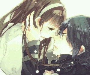 cry and anime couple image