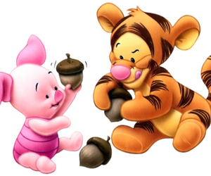 piglet, baby, and tigger image