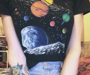 grunge, planet, and tattoo image