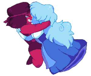 pixel art, sapphire, and su image