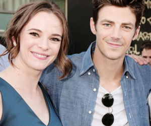danielle panabaker, the flash, and grant gustin image