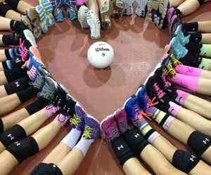 volleyball, heart, and sport image