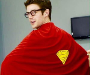 grant gustin, superman, and the flash image