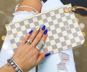 bag, beautiful, and blue image