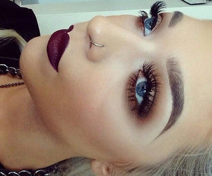 girl, make up, and style image