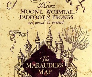 harry potter, hogwarts, and the marauders map image