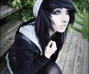 alternative, hair black, and emo image