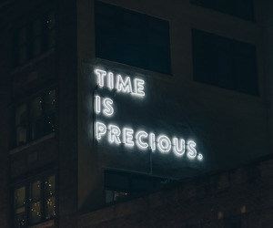 quotes, time, and neon image