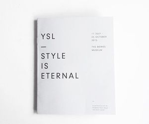book, fashion, and YSL image