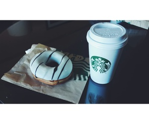 chocolate, donnut, and latte image